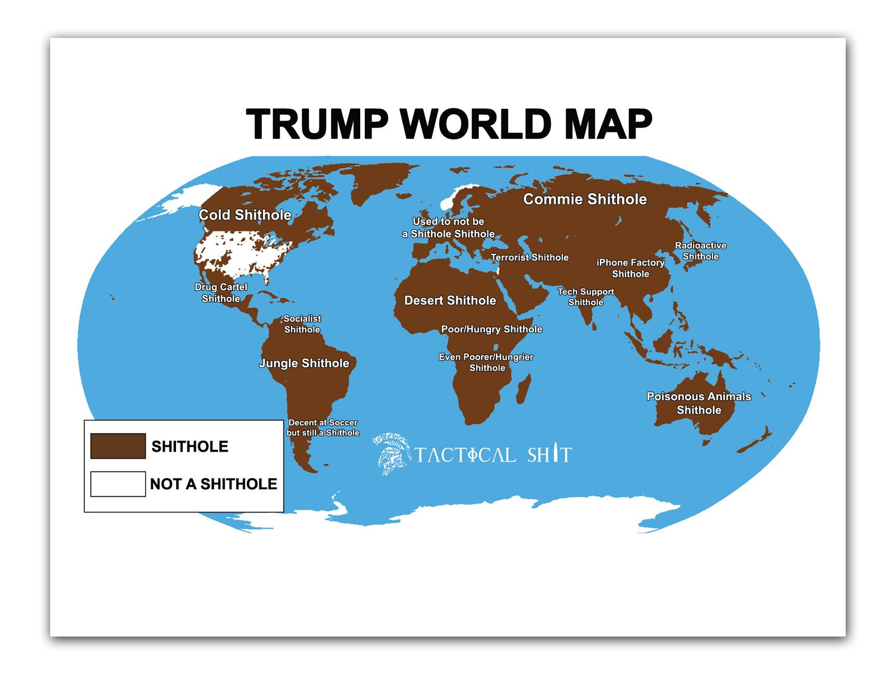Shithole world map poster gumiabroncs Image collections