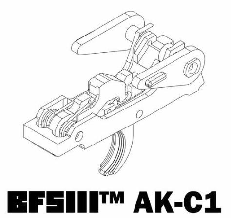 AK-47 BINARY TRIGGER BFSIII AK-C1 by Franklin Armory
