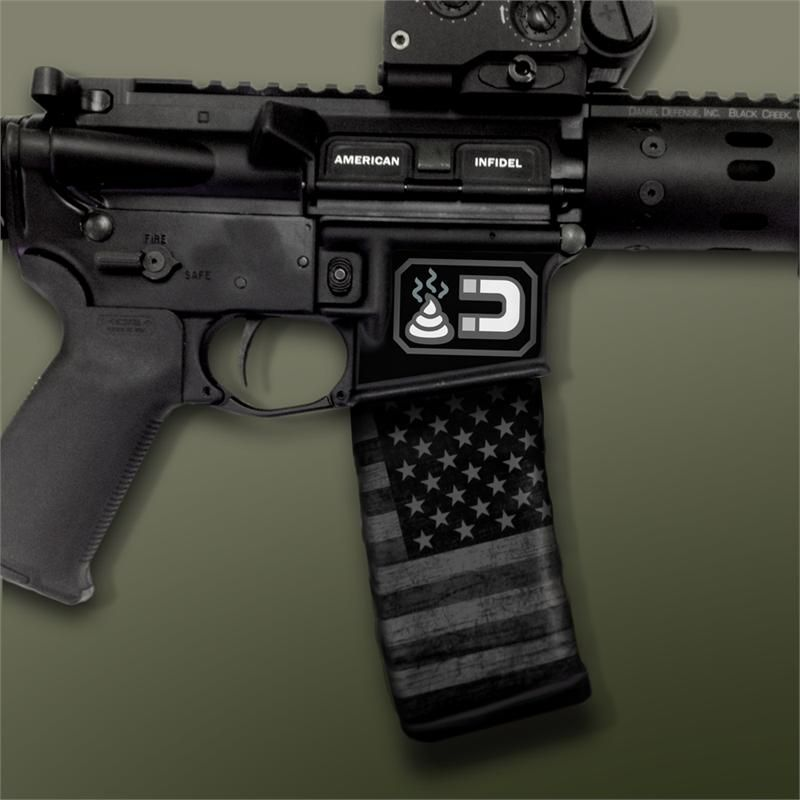 AR-15 Mag Well Decals - Mil-Spec Monkey Shit Magnet