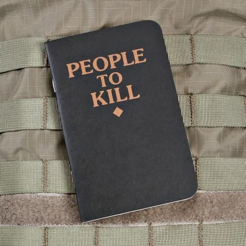 88f8c6f34a72 People to Kill Notebook