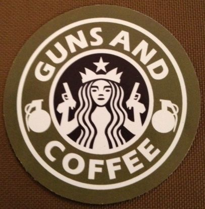 Guns & Coffee Sticker 3