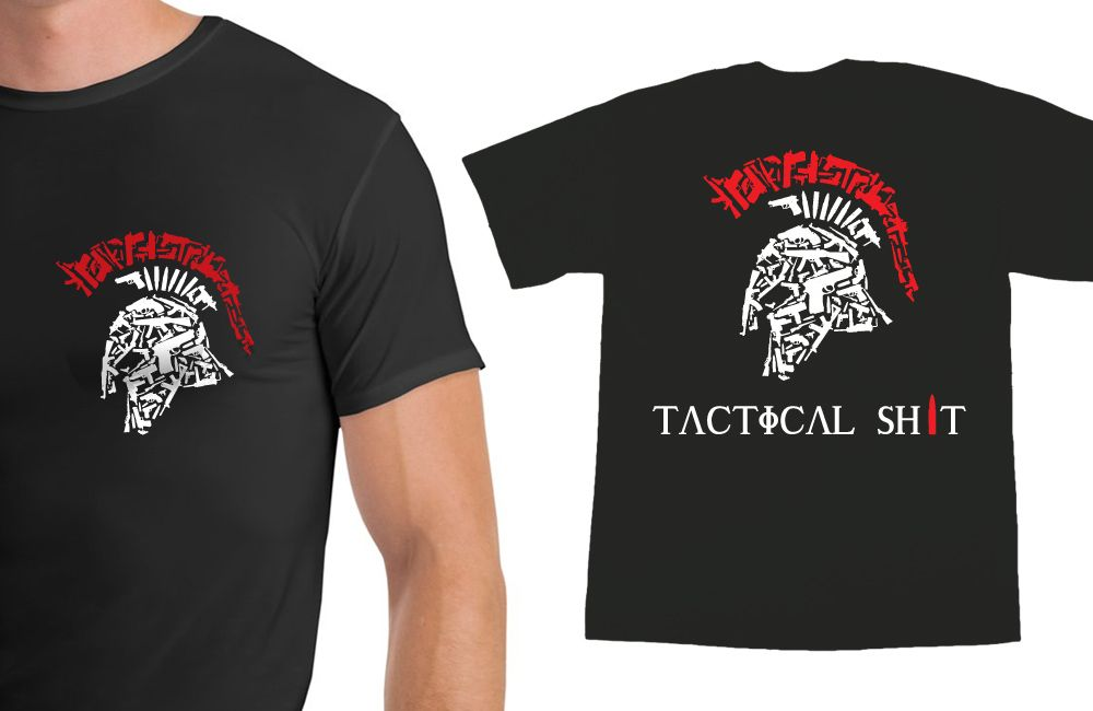 spartan t shirt  Tactical Shit Spartan Shirt With Name & Logo on the Back