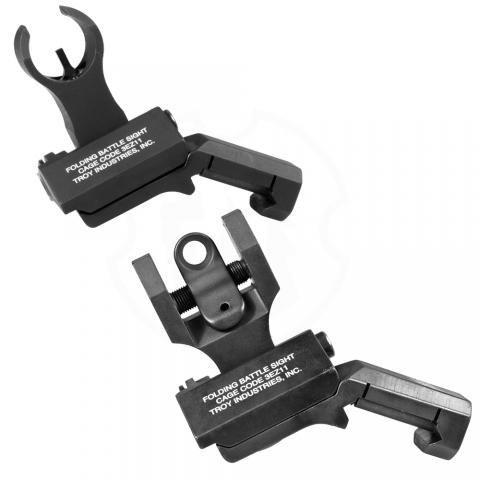 Troy Industries Micro BattleSight Front and Back Folding Sights Black