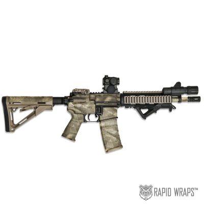 A-TACS Camo Pre-Cut Black Rifle (AR) Accent Wrap Kit