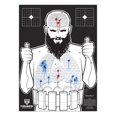 Threat Down Terrorist Silhouette