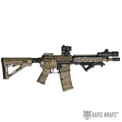 Tiger Stripe Products™ Camo Pre-Cut Black Rifle (AR) Accent Wrap Kit