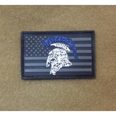 Tactical Shit Gun Spartan Blue PVC Patch