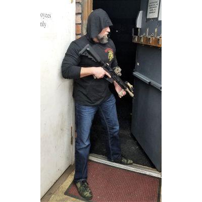 Tactical Shit Gun Spartan Hoodie Tee Shirt