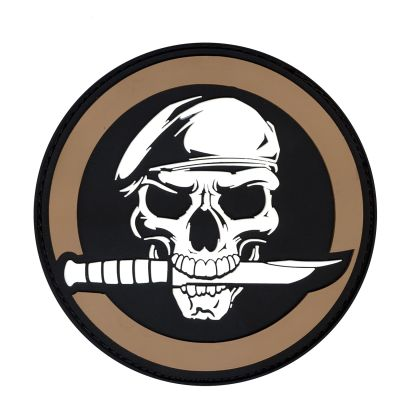 PVC Military Skull & Knife Morale Patch