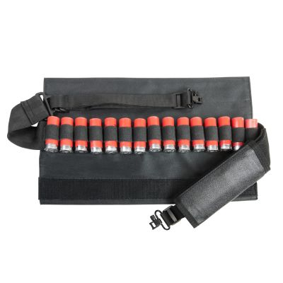 Shotgun Bandolier Sling With Sling Swivel Hardware - Black