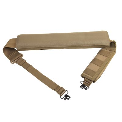 Shotgun Bandolier Sling With Sling Swivel Hardware - Tan