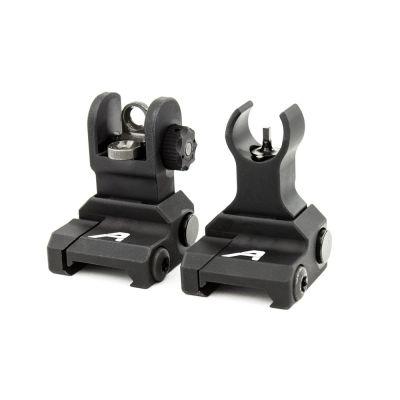 AR15 Flip-Up Sight Set- Anodized Black