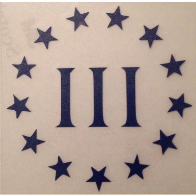 "Three Percenter Window Decal 4"" X 4"""