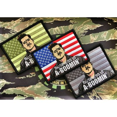 "INGLORIOUS BASTARDS ""BUSINESS IS A-BOOMIN"" BRAD PITT MILITARY MORALE PATCH"