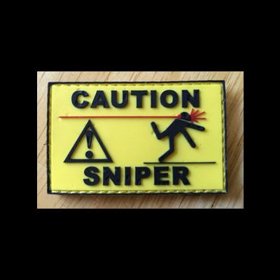 Caution Sniper PVC Patch
