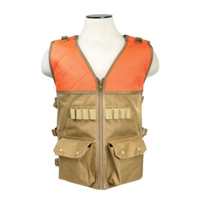 Hunting Vest/Blaze Orange And Tan
