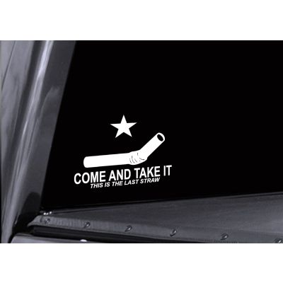 Straw Come and Take Them Sticker
