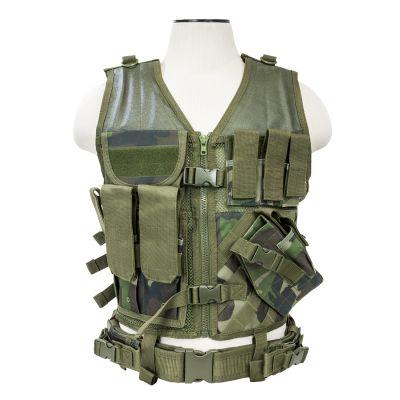 Tactical Vest/Woodland Camo  M-Xl