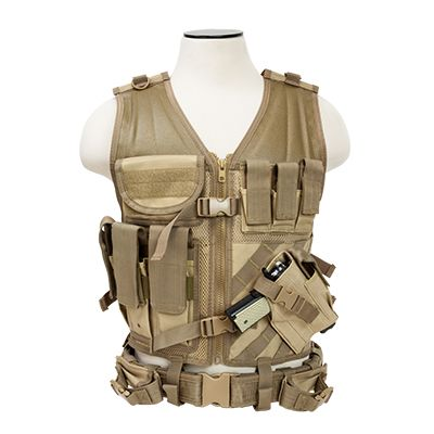Tactical Vest/Tan  Xl-Xxl+