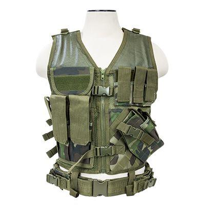 Tactical Vest/Woodland Camo  Xl-Xxl+