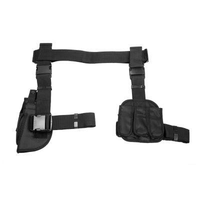3Pcs Drop Leg Gun Holster And Magazine Holder/Black