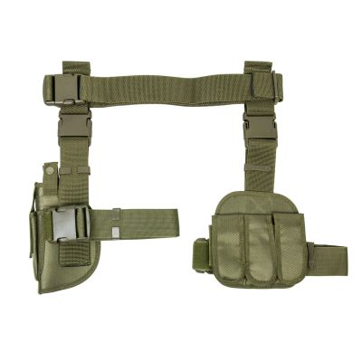 3Pcs Drop Leg Gun Holster And Magazine Holder/Green (814108017903)