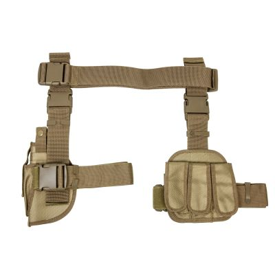 3Pcs Drop Leg Gun Holster And Magazine Holder/Tan (814108017910)