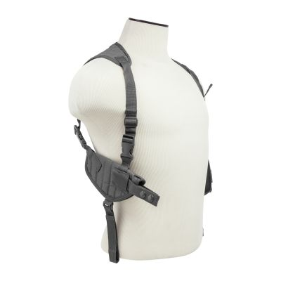 Ambidextrous Horizontal Shoulder Holster/Double Magazine Holder/Urban Gray