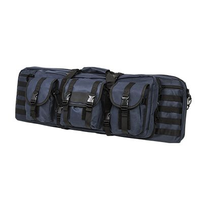 Double Carbine Case/Blue With Black Trim/36 In