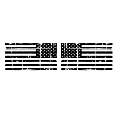 Distressed American Flag Vehicle Decal Pair