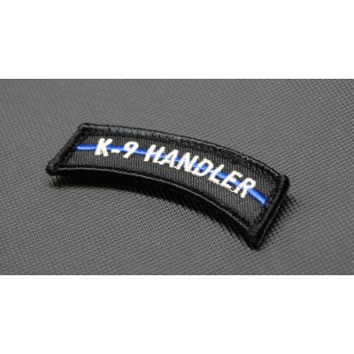 Police K-9 HANDLER Thin Blue Line Tab Patch