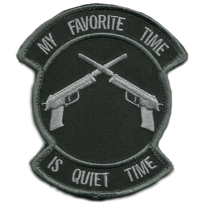 My Favorite Time is Quiet Time Patch - SWAT