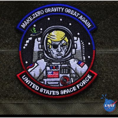 DONALD TRUMP SPACE FORCE USSF MORALE PATCH