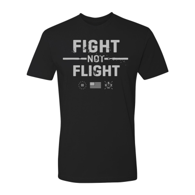 One Shot Industries Fight Not Flight Mens Tshirt