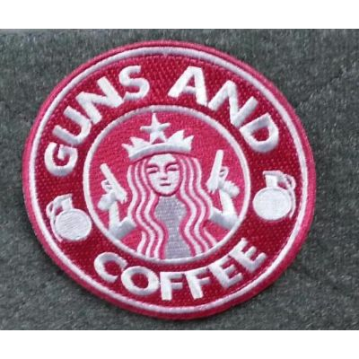 Guns & Coffee Pink - Patch