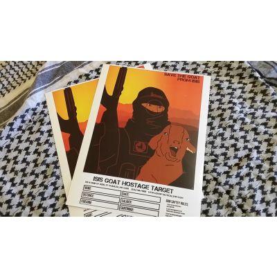 """ISIS Goat Hostage 12""""x18"""" Splatter Targets - 10 Pack"""