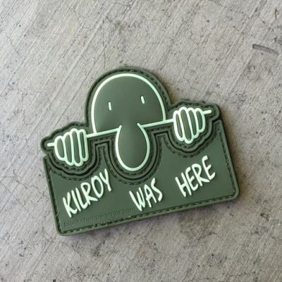 Kilroy Was Here Interlocking PVC patch