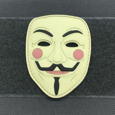 Guy Fawkes Mask 3D PVC Morale Patch