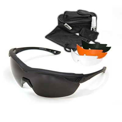 Overlord Kit – Soft-Touch Matte Black Frame / Polarized Smoke, Clear Vapor Shield, Tiger's Eye Vapor Shield, G-15 Vapor Shield Lenses