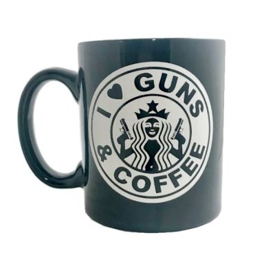 I love guns and coffee mug