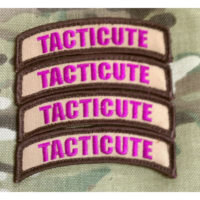 Tacticute v.1 Patch Brown/Pink