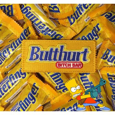 BUTTHURT BITCH BAR' BUTTERFINGER CANDY BAR MORALE PATCH