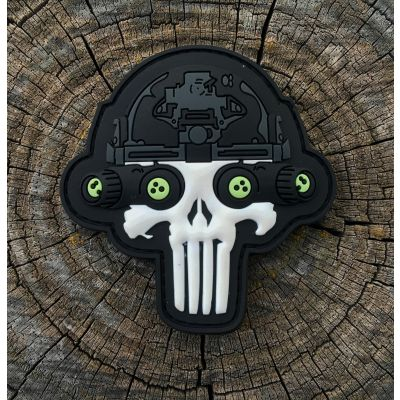 Lights Out Punisher NVG Glow in the Dark Patch