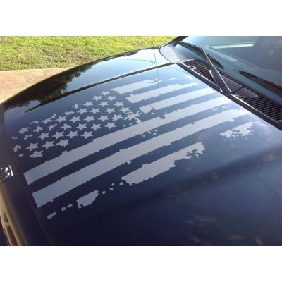 Distressed Flag Hood Graphic