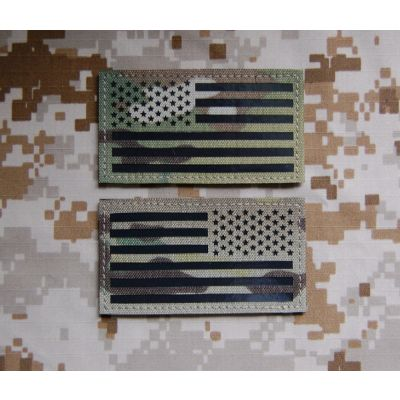Infra Red Multicam US Flag Patch Set