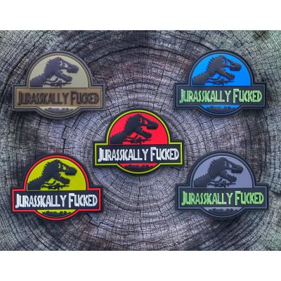 DUMP BOX OFFICIAL JURASSICALLY FUCKED PVC Morale Patch Series 882294d366d