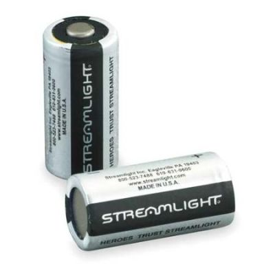 STREAMLIGHT 85180 Battery, CR123A, Lithium, 3V, PK 2
