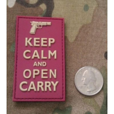Keep Calm and Open Carry PVC - Patch
