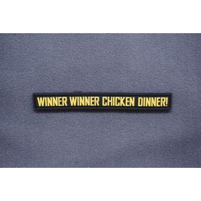 WINNER WINNER CHICKEN DINNER PVC MORALE PATCH