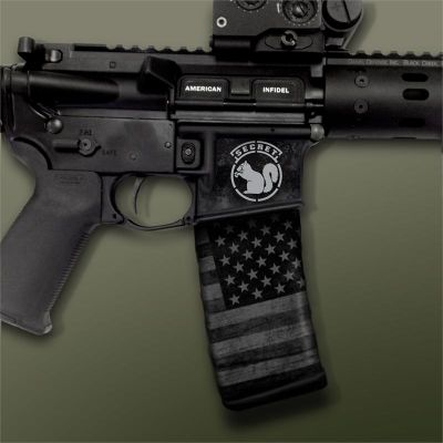 AR-15 Mag Well Decals - Mil-Spec Monkey Secret Squirrel